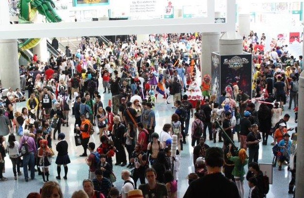 Anime expo crowd