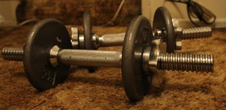 dumbells exercise
